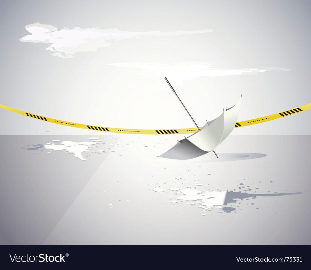 Umbrella and the crime scene vector
