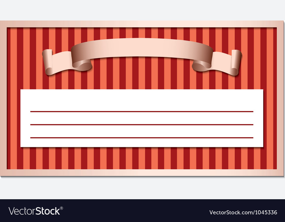 Ribbon in a frame vector