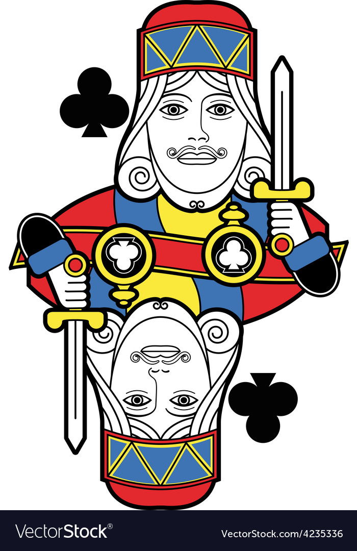 Stylized king of clubs no card vector