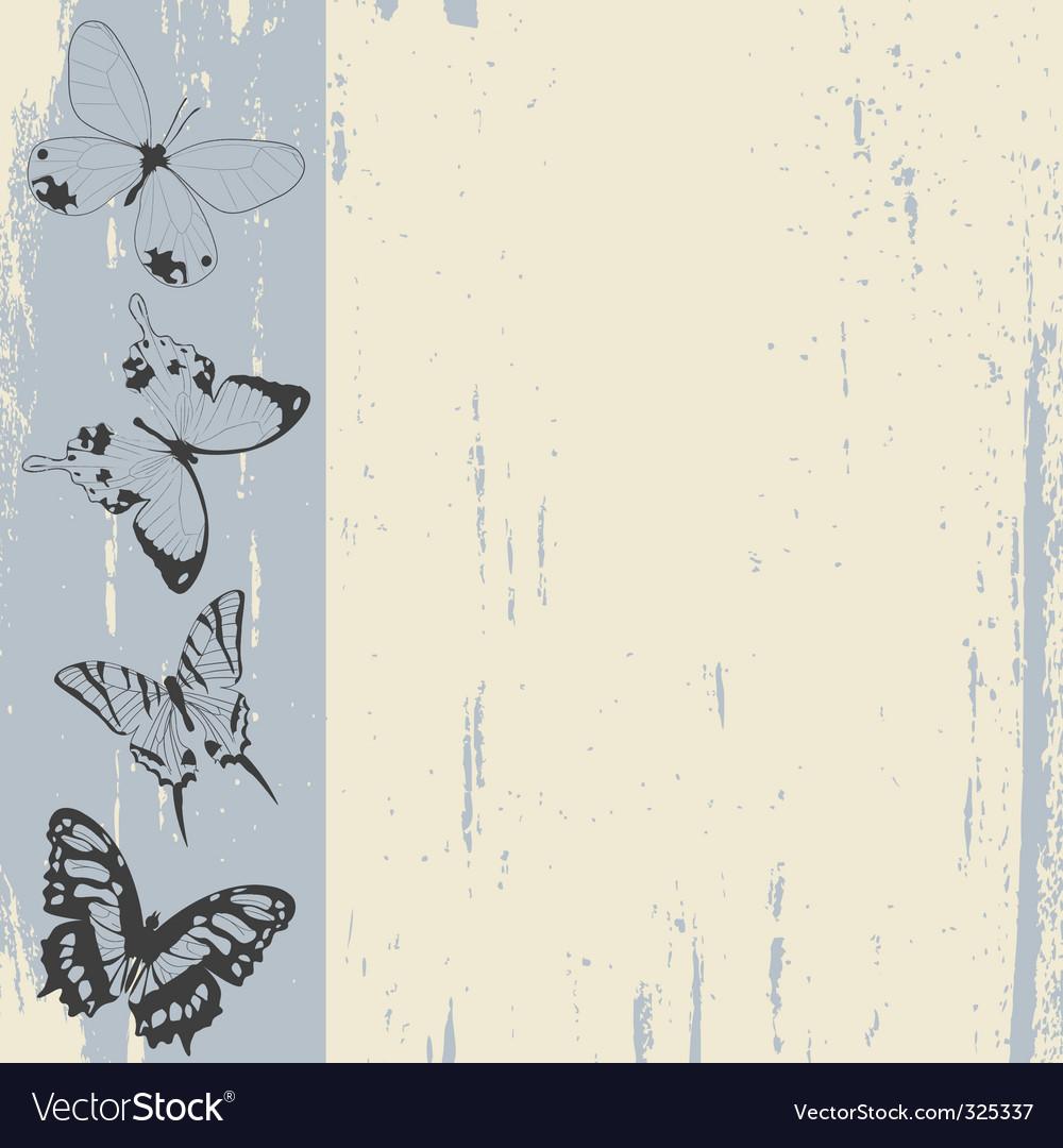 Butterflies sketch vector