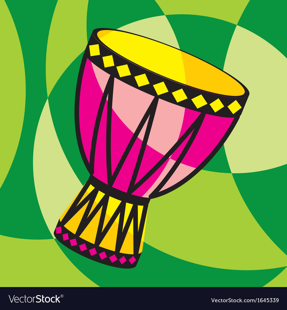Color african tarbuka vector