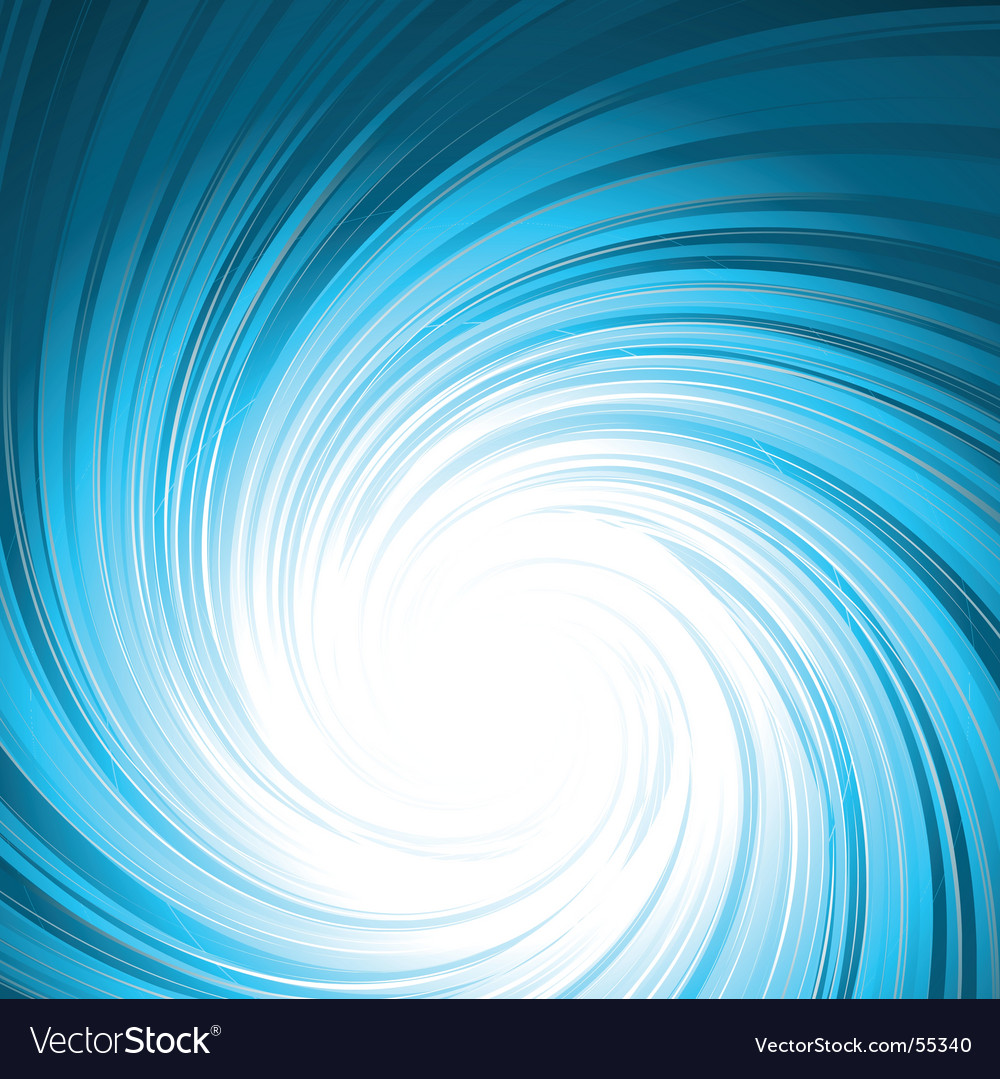 Abstract blue swirl background vector