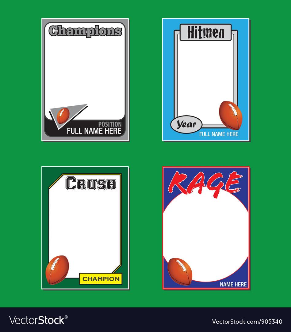 Football cards vector