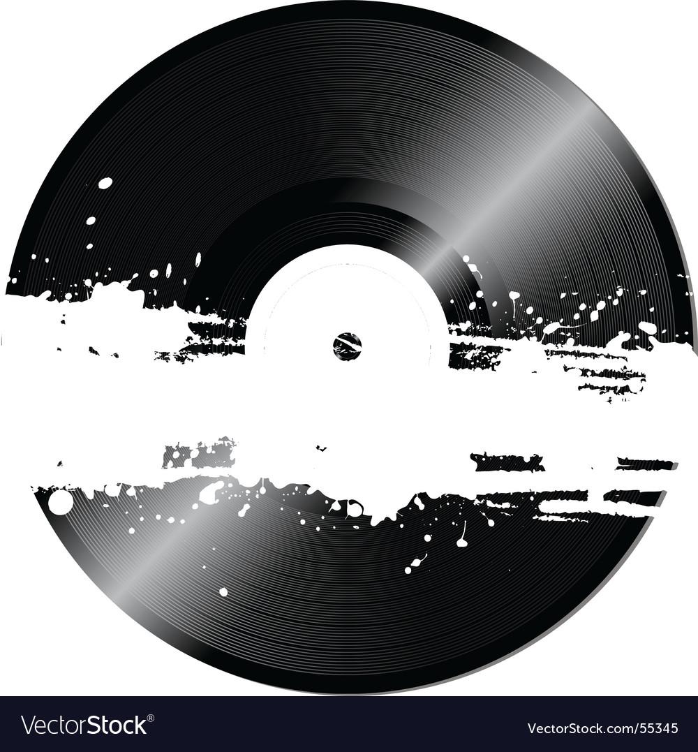 Grunge vinyl vector