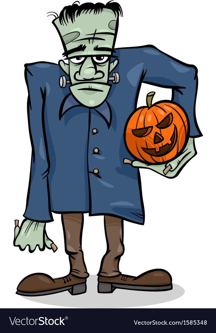 Halloween frankenstein cartoon vector