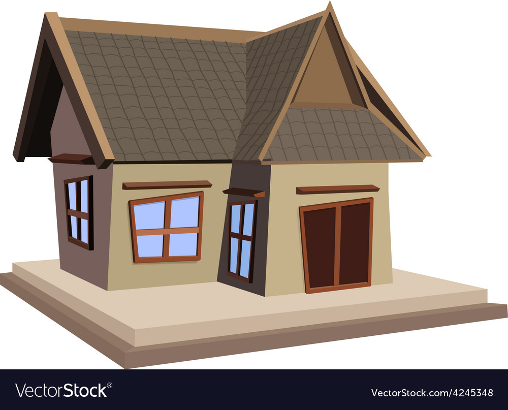 House isolated on white background vector