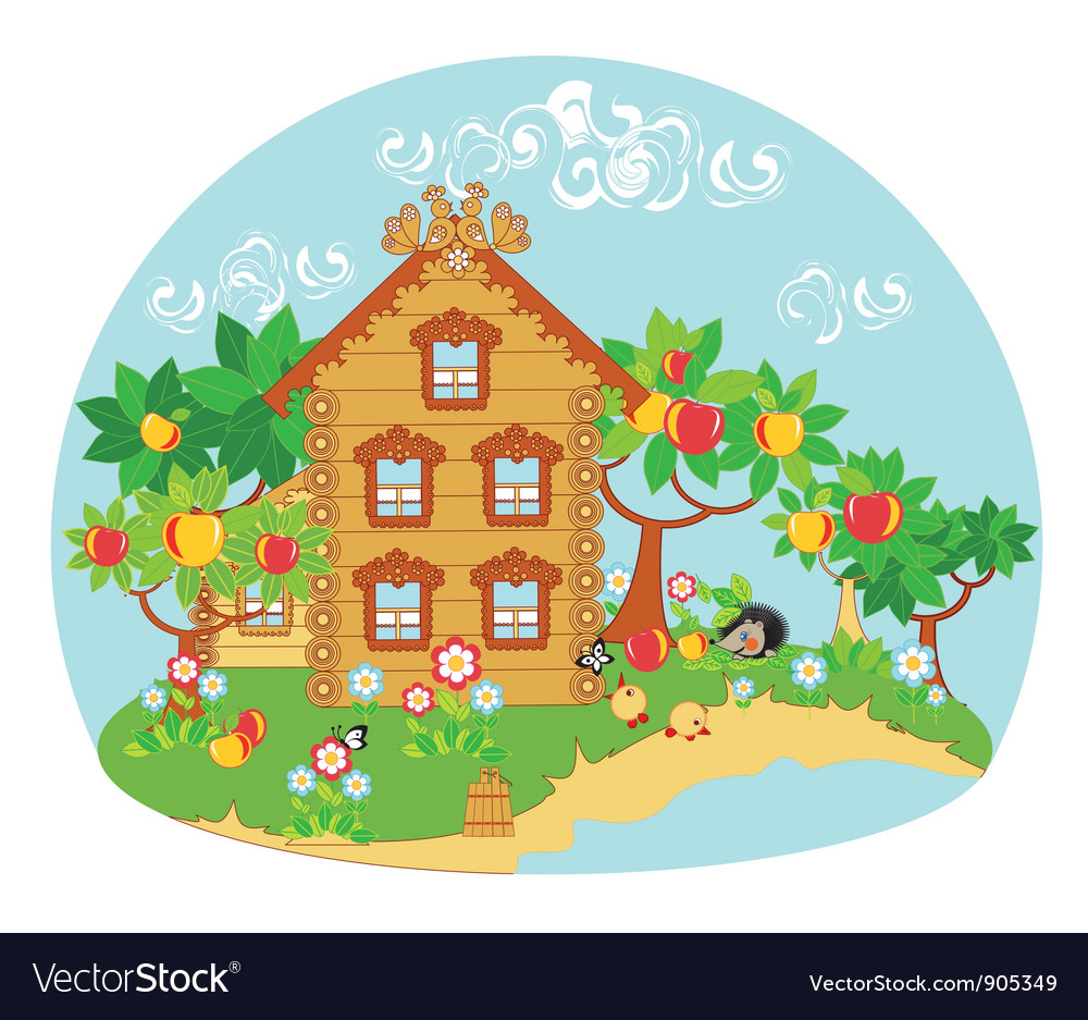Nature house vector