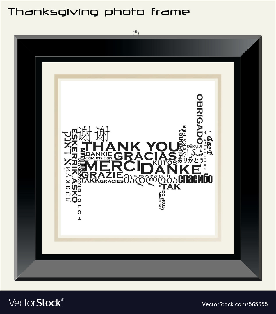 Thanksgiving photo frame vector