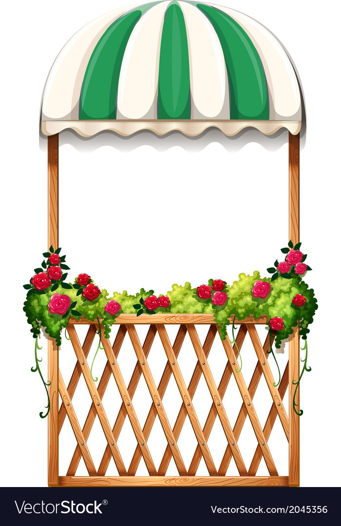 A porch with umbrella-styled roof vector