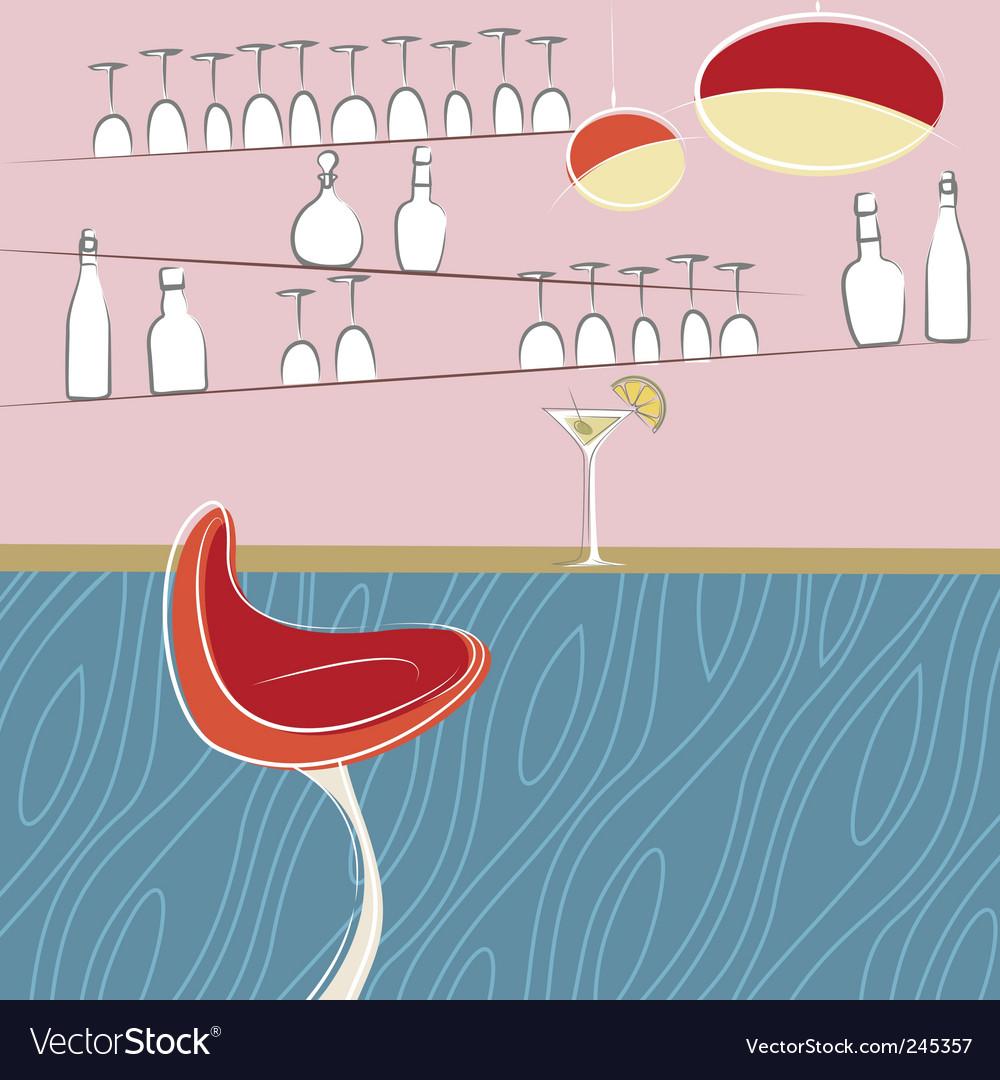 Drinking bar design vector