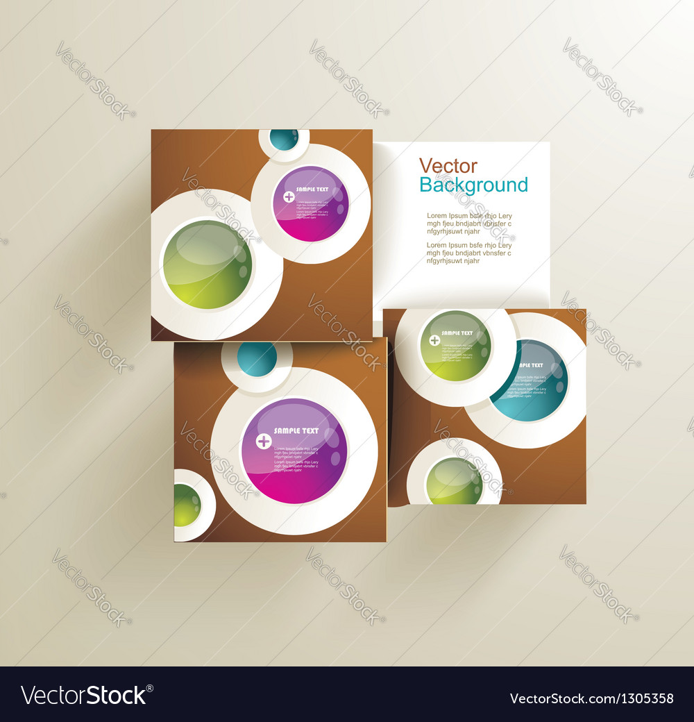 Abstract circles for infographics vector