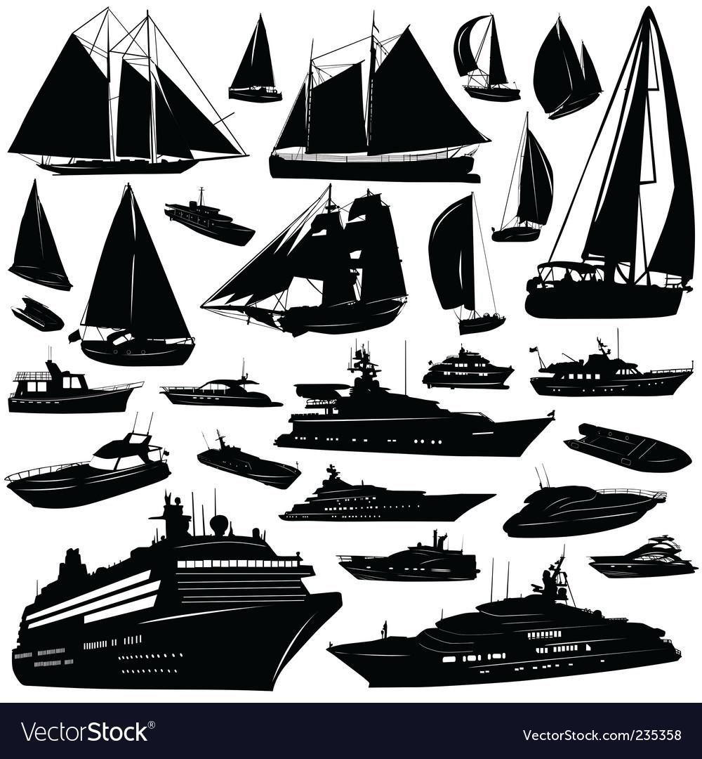 Sea transportation vector