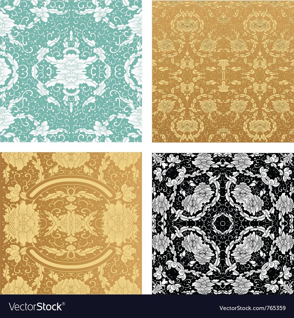 Ornamental backgrounds set vector