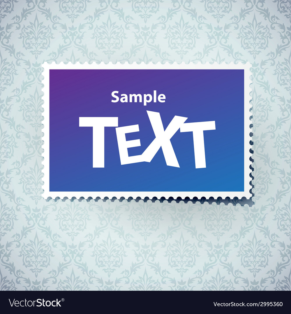 Postal stick on fabric background vector