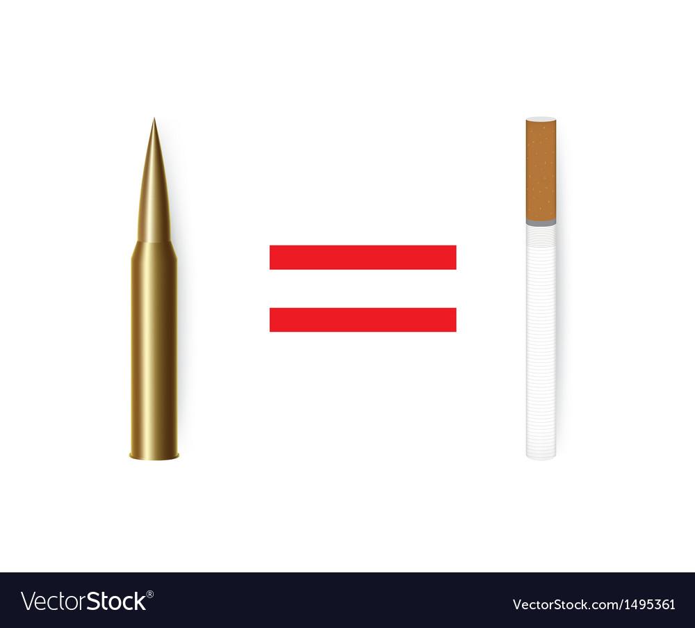 Anti tobacco concept vector