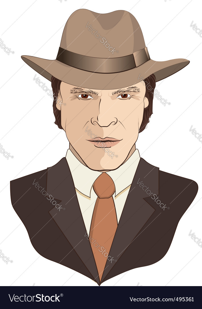 Film noir man vector
