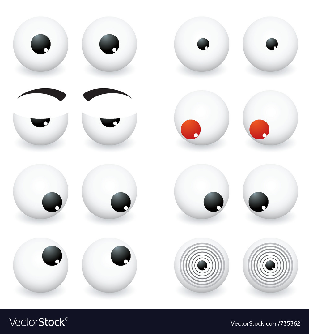 Eye ball cartoon vector
