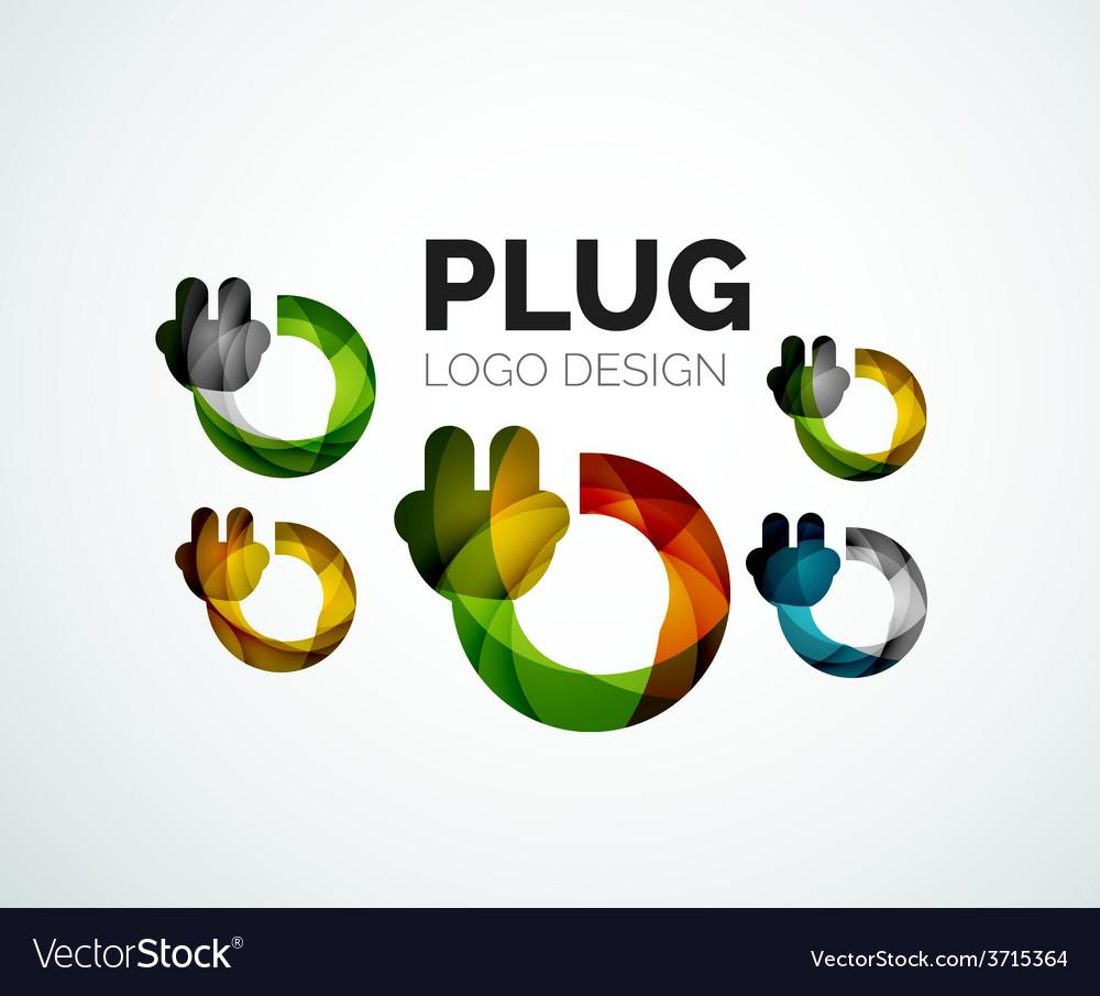 Color abstract logo vector
