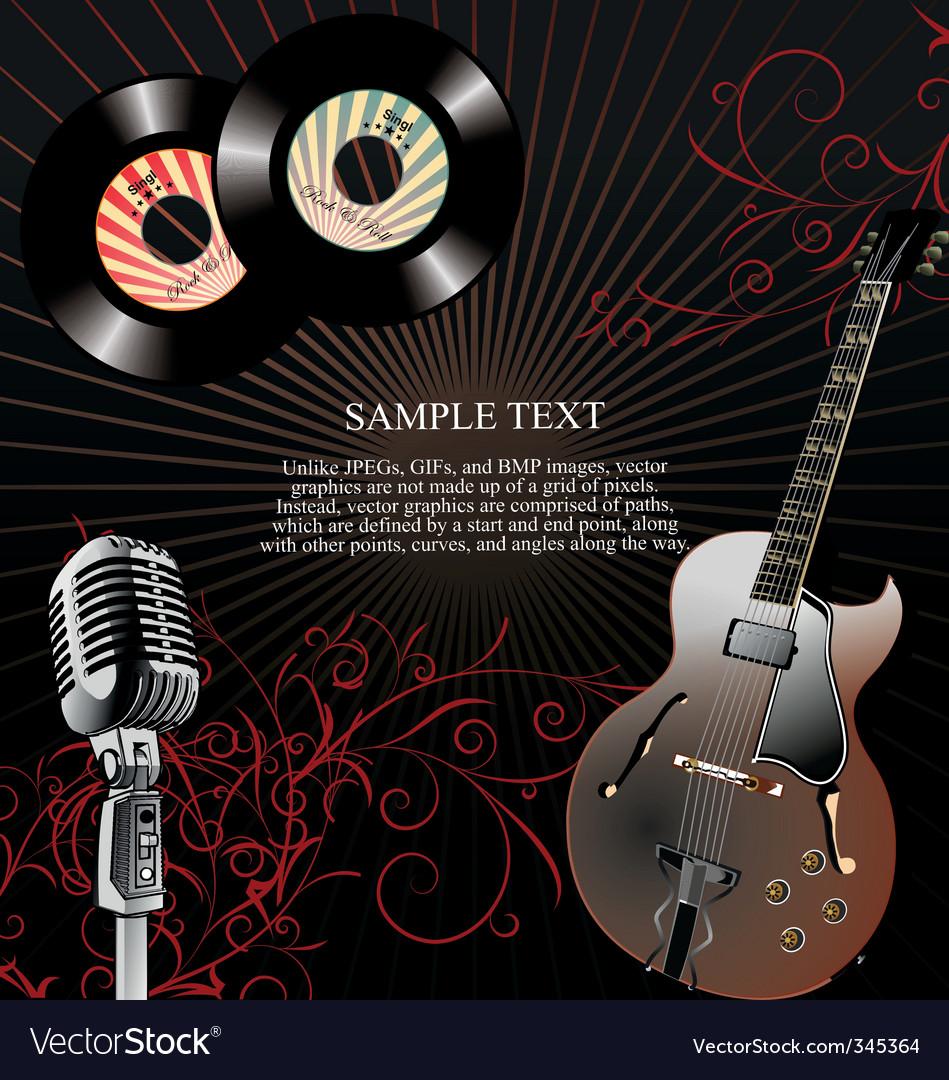 Retro 45 rpm music background vector