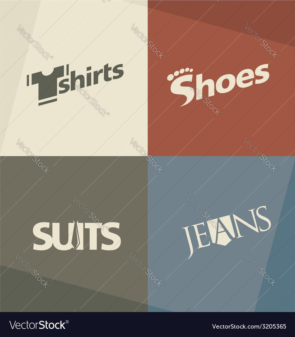 Fashion logo design concepts vector