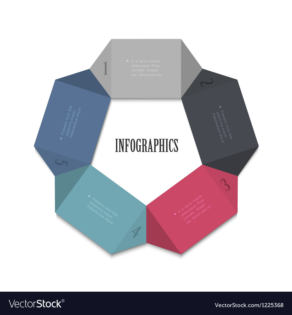 Modern design template for infographics vector