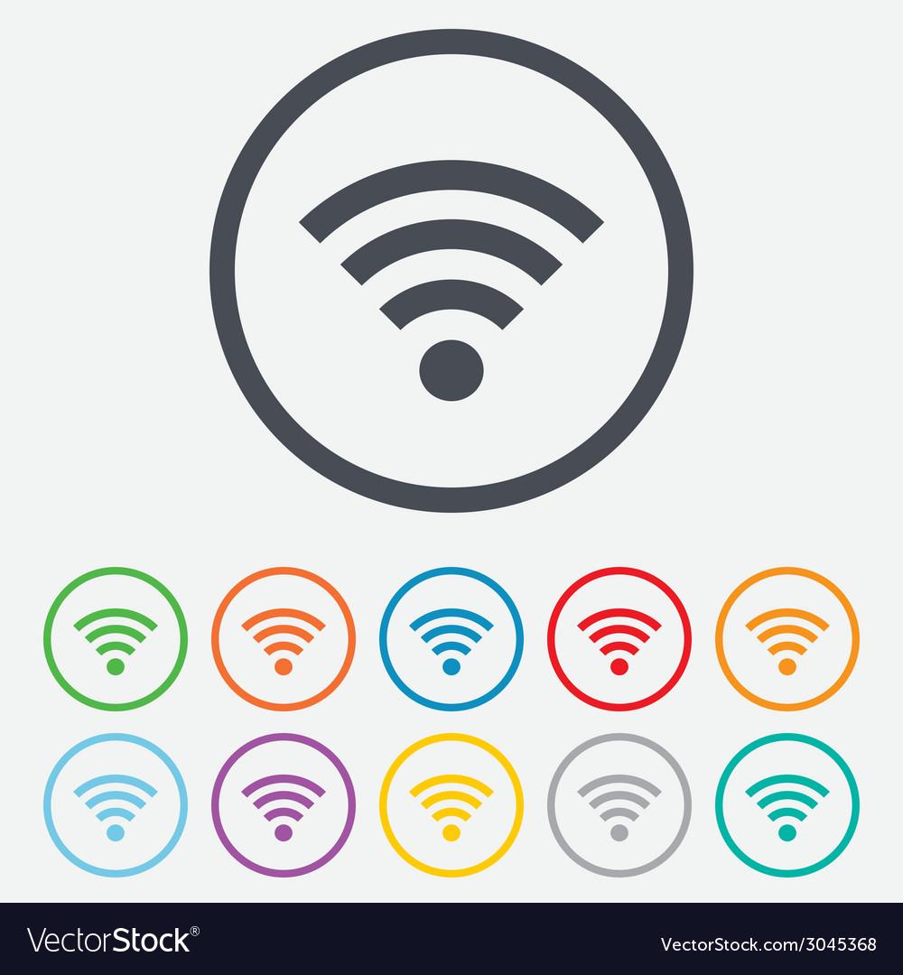 Wifi sign wi-fi symbol wireless network vector