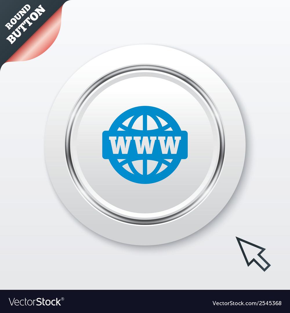 Www sign icon world wide web symbol vector
