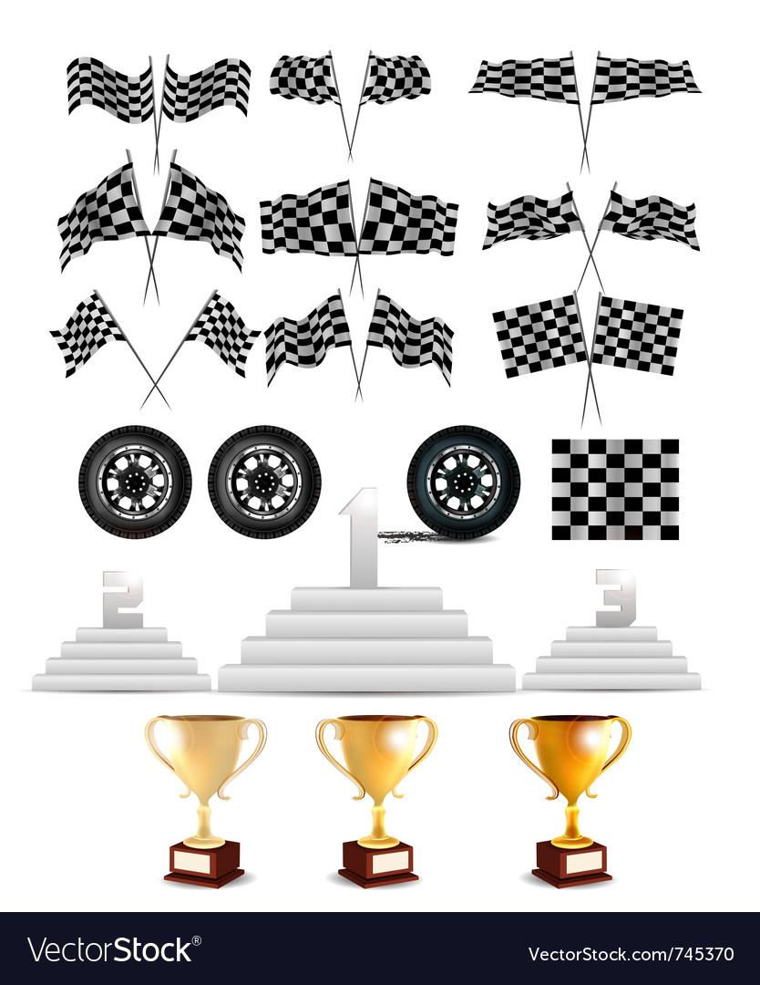 Racing design elements vector