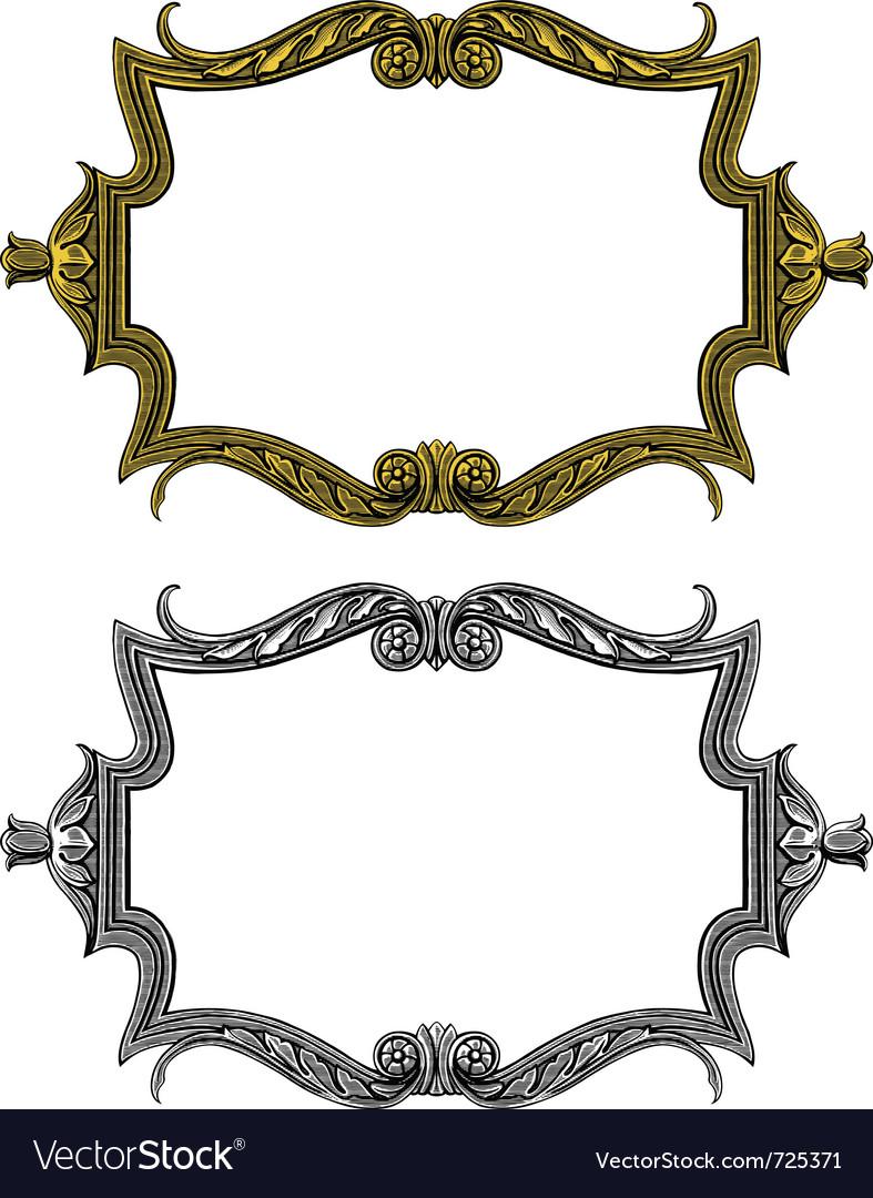 Vintage frame in engraved style vector