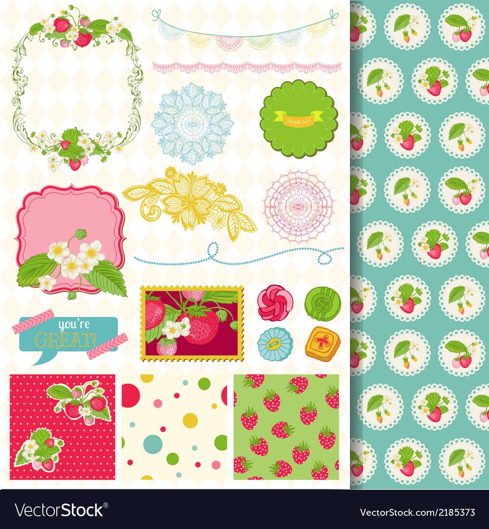 Design elements - strawberry vector