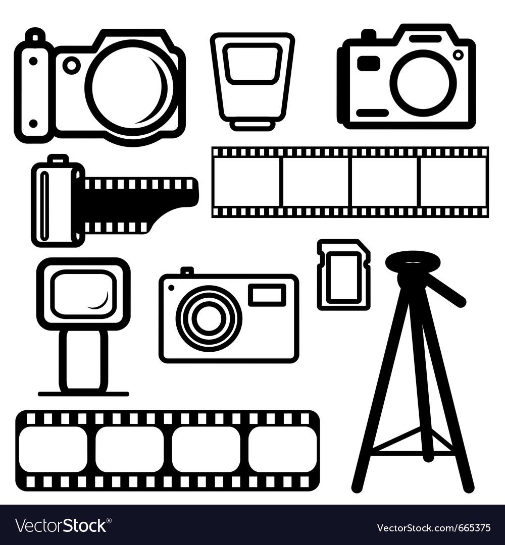 Camera design elements vector