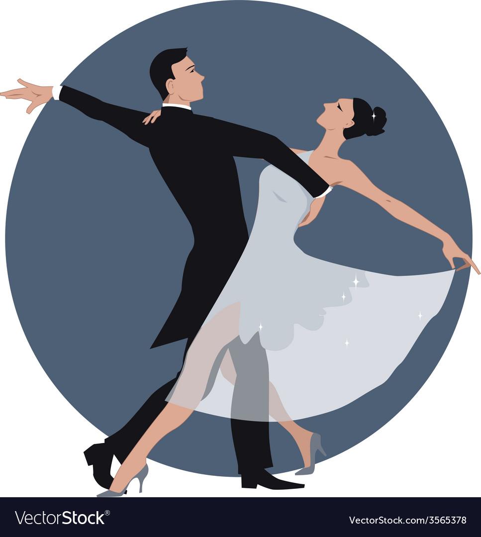 Couple dancing waltz vector