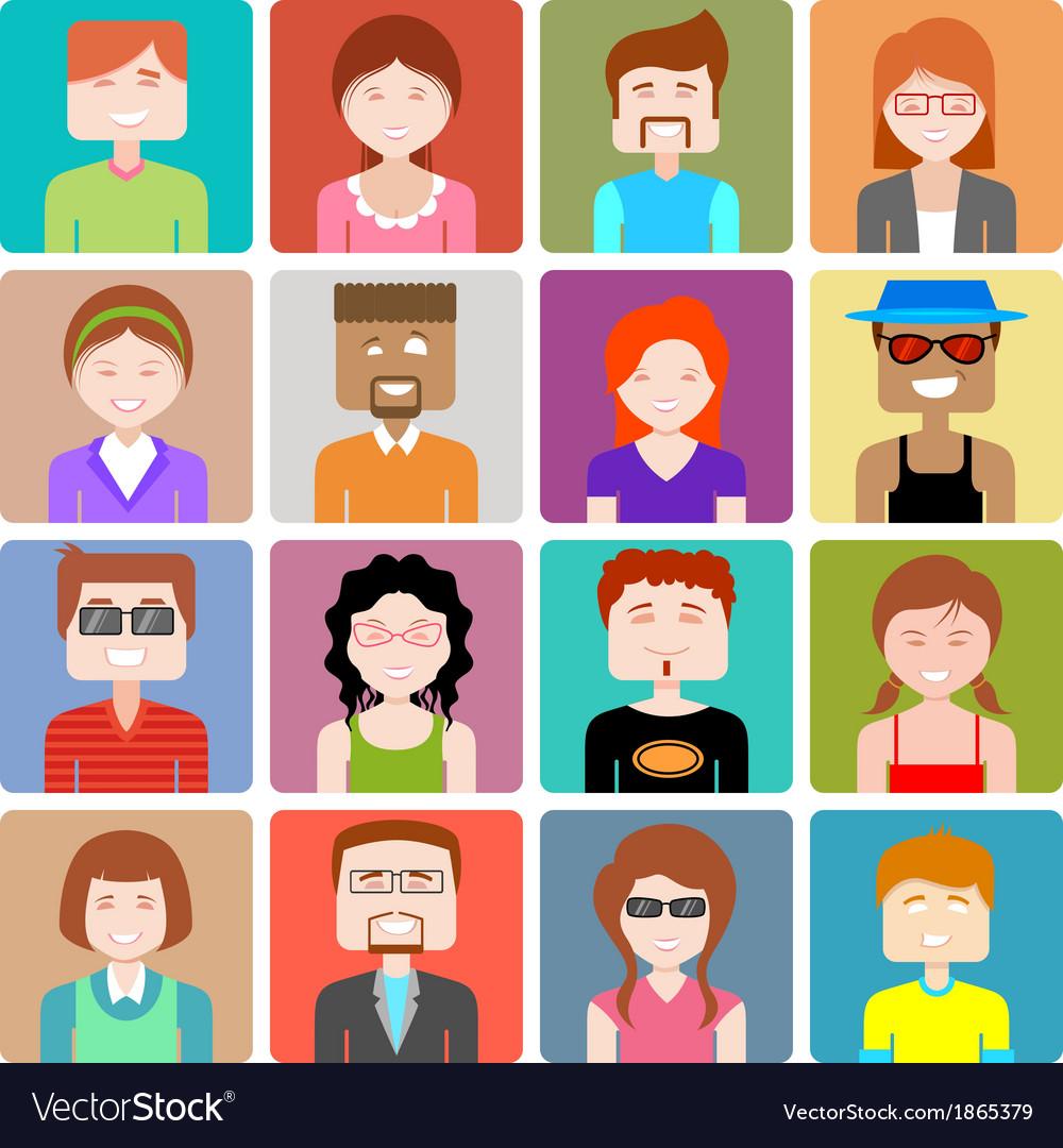 Flat design people icon vector