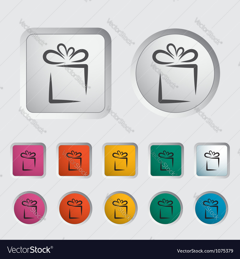 Gift icon 2 vector