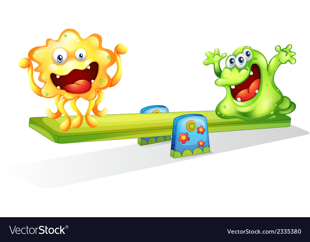 Monsters playing vector