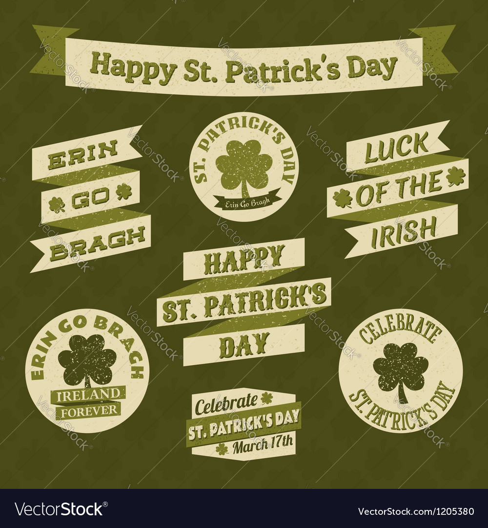 Stpatricks day design elements vector