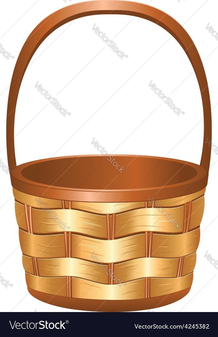 Wicker basket3 vector