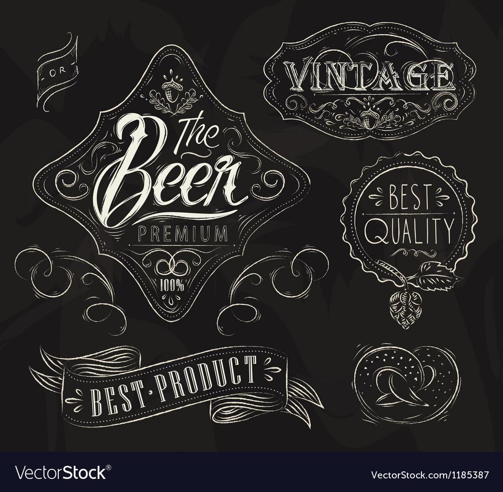 Vintage elements for bar vector