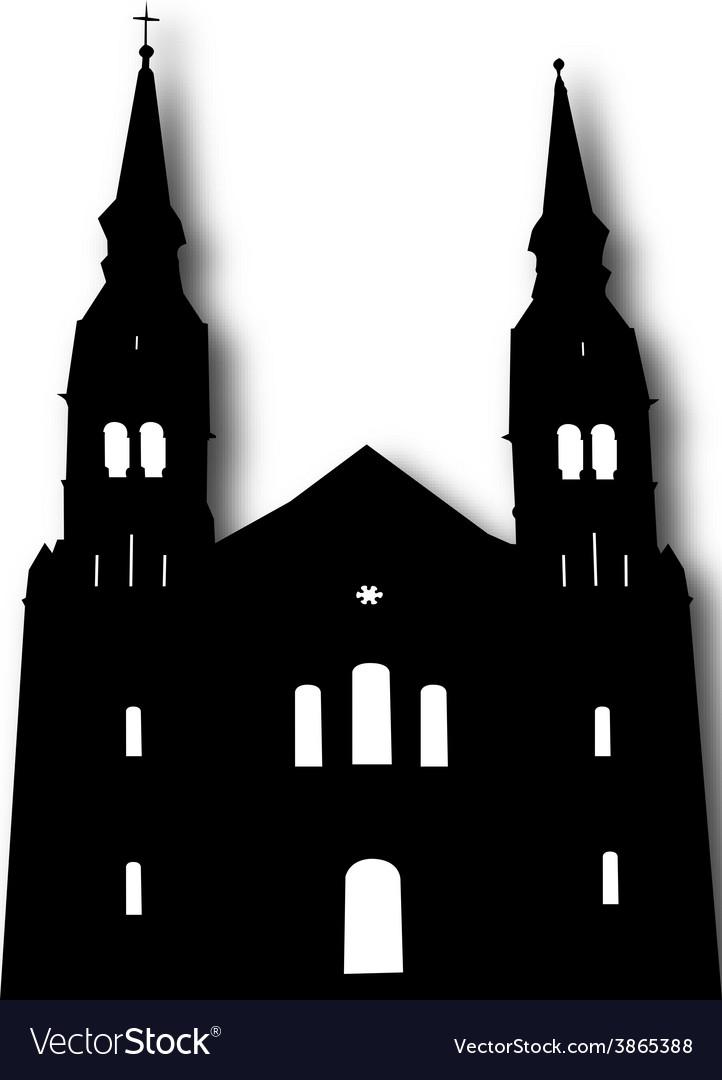 Church silhouette vector