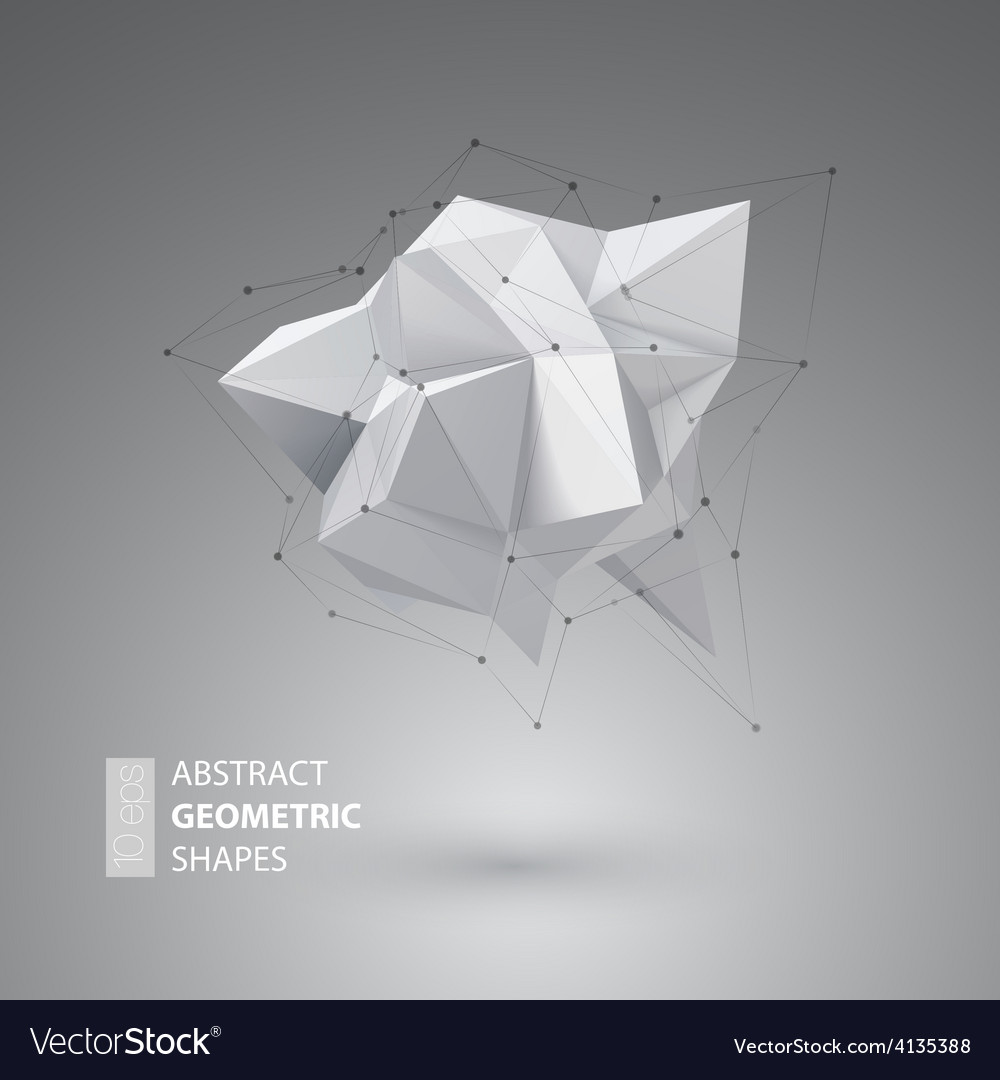 Low polygon geometry shape vector