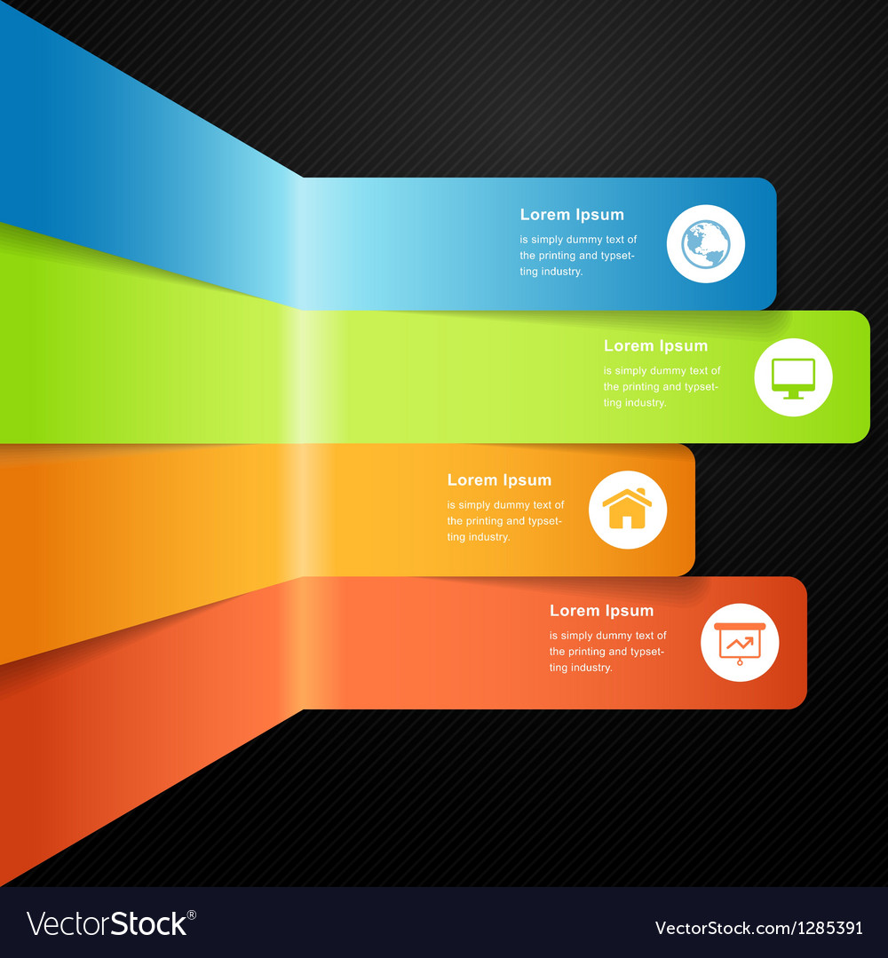 Modern full color info graphic bar vector