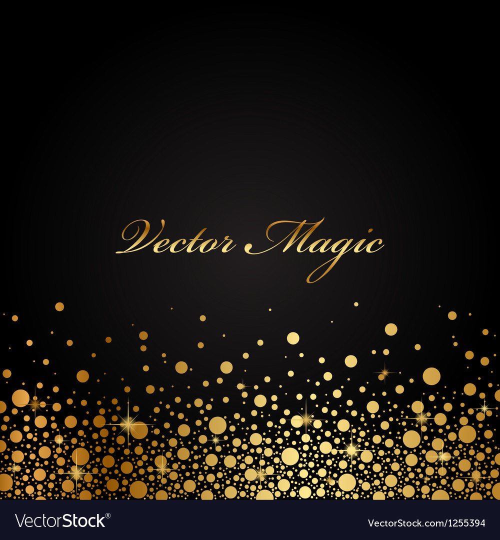 Black and gold luxury background vector