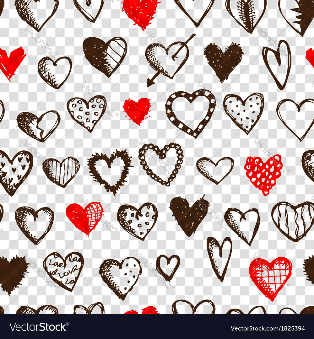 Seamless pattern with valentine hearts for your vector