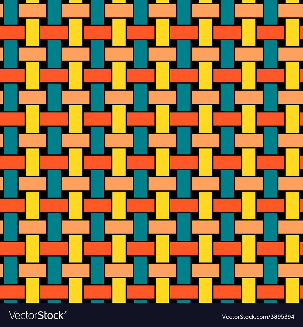 Wicker seamless pattern vector