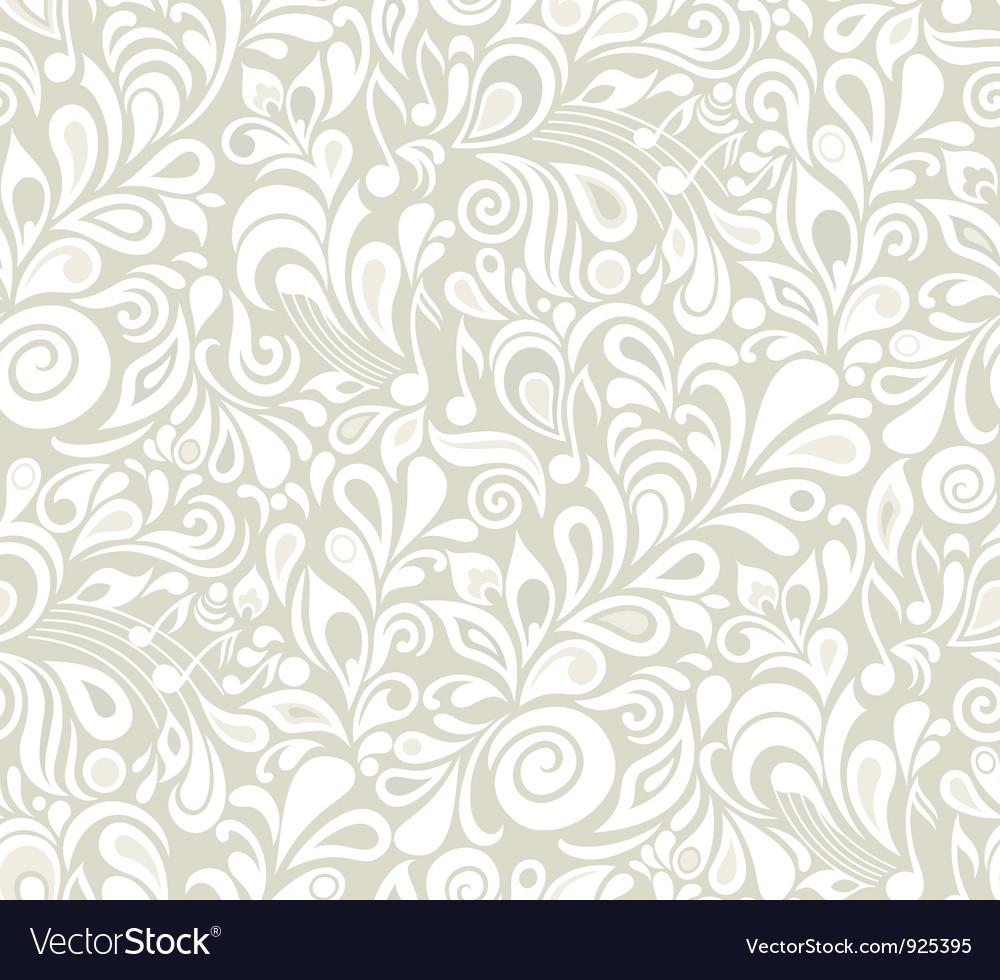 Decorative musical floral theme vector