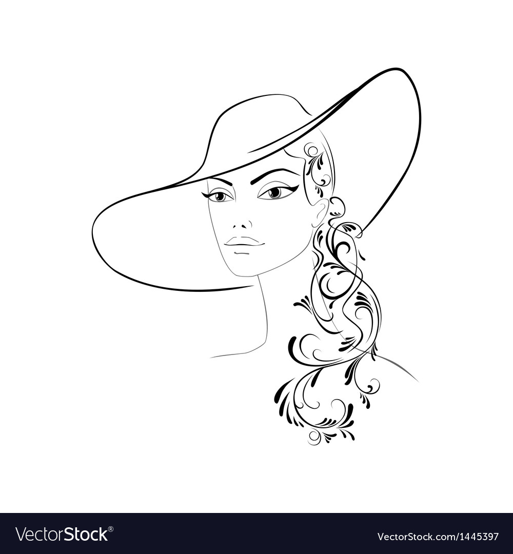 Lady in hat vector