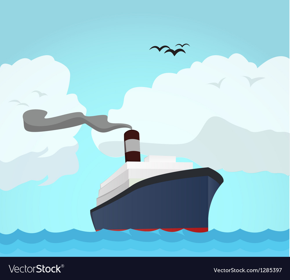 Ocean line vector