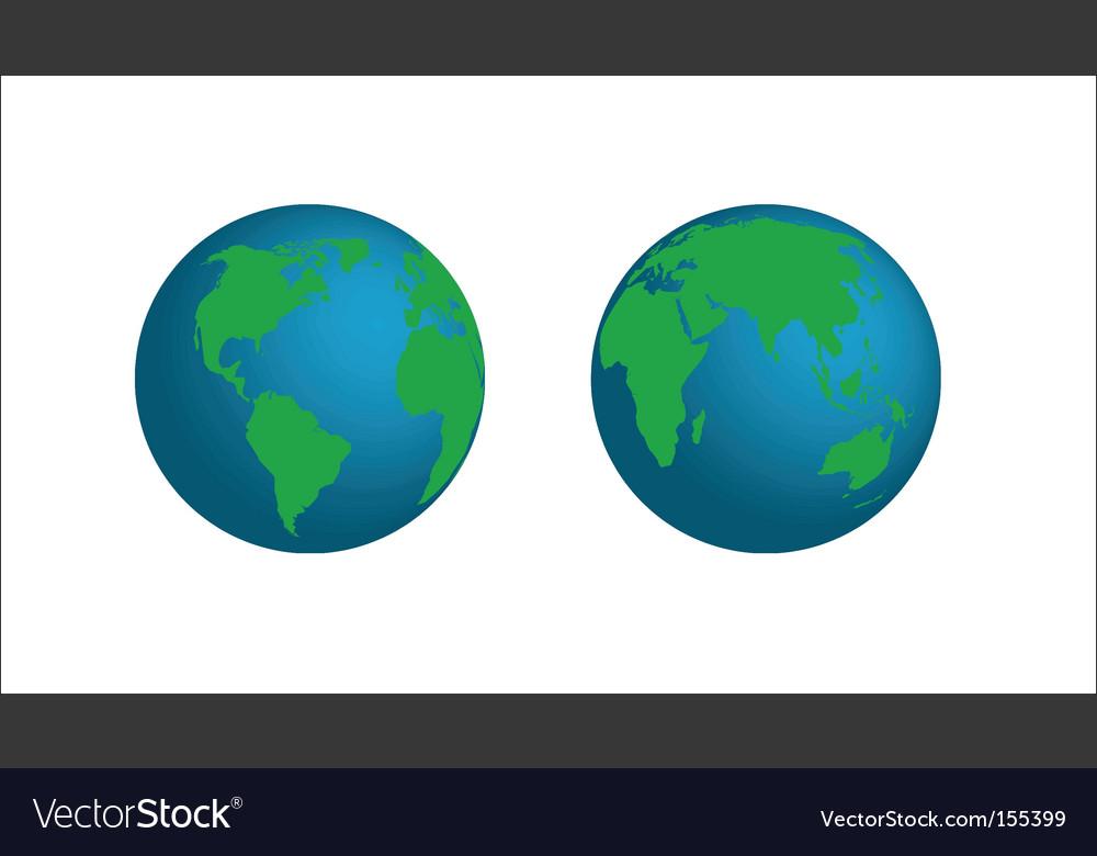 Model of earth vector
