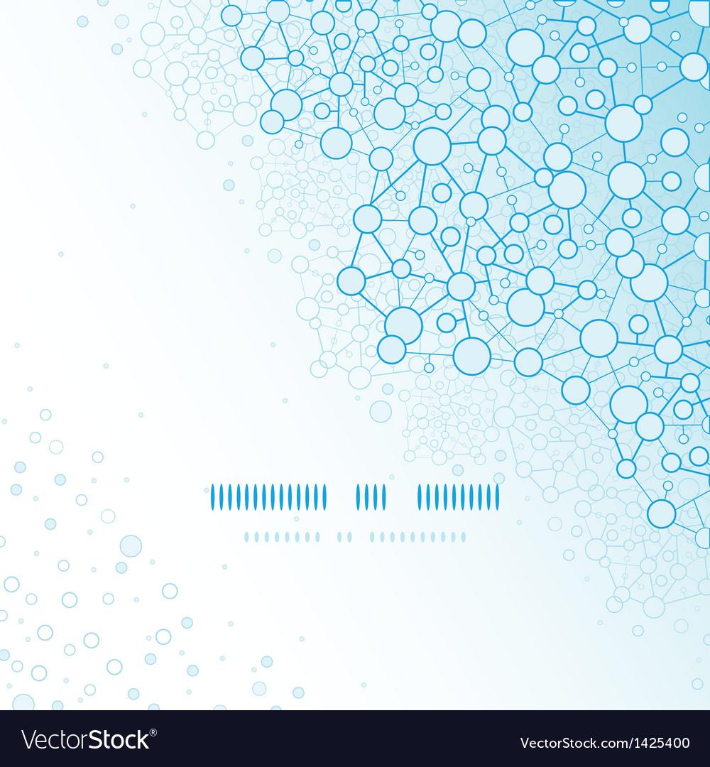 Molecular structure scientific square template vector