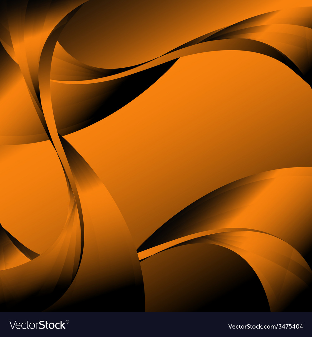 Abstract curve dark orange background vector